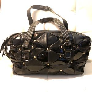 Michael Rome Black Leather Purse Made in Italy